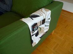 ☆ソファーの肘掛につけるリモコンケースを作りました - Living in Germany ~ドイツで暮らす~