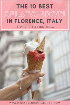 The Top 10 Must Visit Gelaterias In Florence · Are you on a mission to discover where the best gelato in Florence, Italy is? You're in luck! This list covers all of the best gelaterias in Florence, and there is even a map included so you can find them easily. Enjoy!