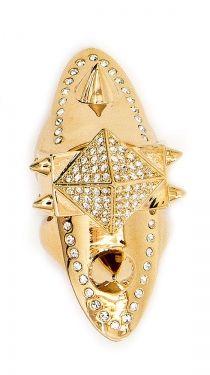 Barbarella Pave Hinge Ring - Gold