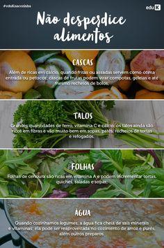 Nunca mais desperdice alimentos! Anote essas dicas e aproveite tudo em seus pratos!