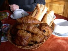 Croissant and Baguette Croissant, Baguette, Bread, Breakfast, French, Food, Morning Coffee, Meal, French People
