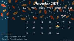 November 2017 FREE PRINTABLE CALENDAR.CLICK ON THE IMAGE FOR THE PDF FILE. FOR THE IMAGE FILE, RIGHT-CLICK AND SAVE AS.