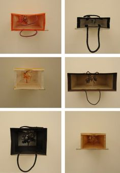 London. Saatchi Gallery. Look inside these paper bags. By Yuken Teruya. Katrina©B