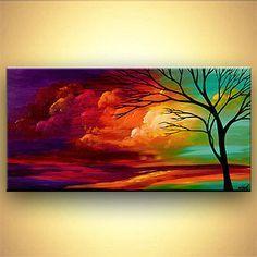 modern abstract art - Chasing the Sun