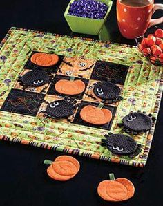 Tic Tac Toe Quilted Table Runner