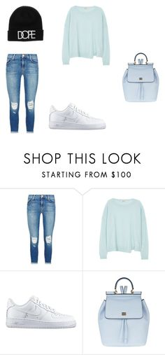 """""""Untitled #81"""" by tika-lekic ❤ liked on Polyvore featuring J Brand, NIKE, Dolce&Gabbana, women's clothing, women, female, woman, misses and juniors"""