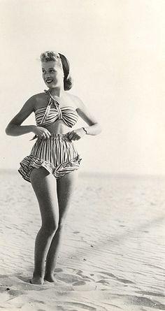 1940s swimsuit.                                                                                                                                                                                 Plus