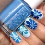 14 Amazing And Beautiful Water Marble Nail Art Designs