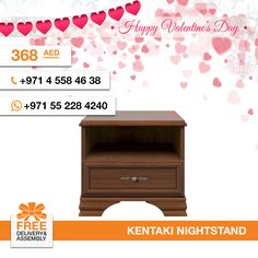 A simple attitude towards lifestyle is reflected directly on the design of Kentaki nightstand. It features a drawer and one open storage compartment above to maximize Your space, ideal for storing books. Except a nightstand, we also have a bed, mirror, and wardrobe in this set. Don't forget, we have free delivery and assembly! More details: http://gtfshop.com/kentaki-nightstand