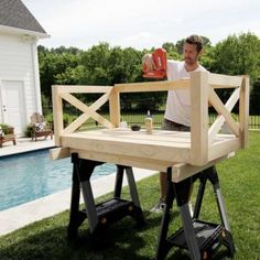 How to Build a Crib Mattress Porch Swing – Plank and Pillow - Modern Build A Dog House, Build Your Own Shed, Outdoor Spaces, Outdoor Living, Outdoor Decor, Outdoor Pergola, Outdoor Kitchens, Outdoor Ideas, Octagon Picnic Table