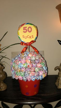 Just made this!!! 50th bday gift! Michaella---I totally did this for my dad on his 50th bday! It's super easy and cheap! :)