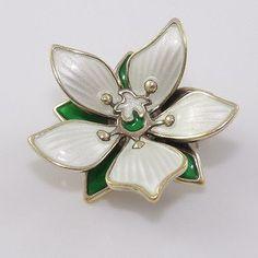 Vintage-David-Andersen-Sterling-Silver-Modernist-Enamel-Flower-Pin-Brooch