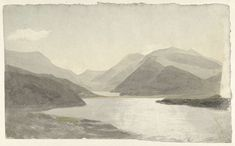 Cornelius Varley, Snowdon, Llanberis, North-Wales