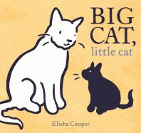 2018 Caldecott Honor Book- Big Cat, little cat by Elisha Cooper New Books, Good Books, Grand Chat, Thing 1, Children's Picture Books, Black And White Illustration, Children's Literature, Stories For Kids, Big Cats