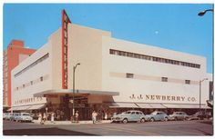 vintage variety store picture | 1950'S AUTOS JJ NEWBERRY VARIETY DEPT STORE SPOKANE WA - bidStart ... Retro Futuristic, Futuristic Architecture, Spokane Washington, Washington State, Variety Store, School Store, Local History, Shopping Center, Department Store