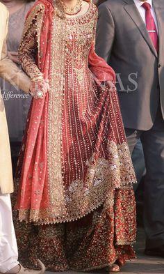 Pakistani Bridal Couture, Indian Bridal Wear, Pakistani Wedding Dresses, Pakistani Dress Design, Indian Wedding Outfits, Indian Dresses, Bridal Anarkali Suits, Bridal Lehenga, Salwar Suits