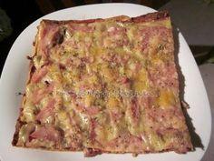 PIZZA Dukan de carne (masa sin salvado con 1 huevo)