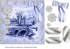 A Winter's Day - blue and silver