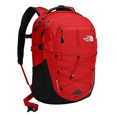 d7b9373ba The North Face Borealis Backpack White Sasquatch Print / Cardinal Red:  Sports & Outdoors