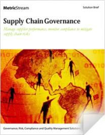 Supply Chain Governance Solution - Solution Briefs - MetricStream