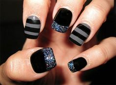 12+ Winter Black Nail Art Designs, Ideas, Trends & Stickers 2015