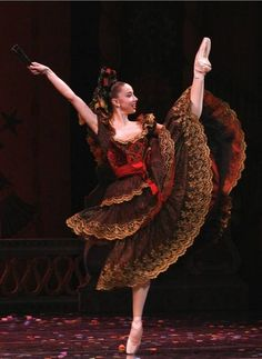 "April Daly stars in the Act II Spanish Dance divertissement in The Joffrey Ballet's ""The Nutcracker."""
