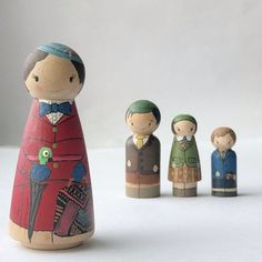 Peg Wooden Doll, Wooden Pegs, Pinecone Crafts Kids, Pine Cone Crafts, Mary Poppins, Doll Crafts, Diy Doll, Diy Arts And Crafts, Crafts For Kids