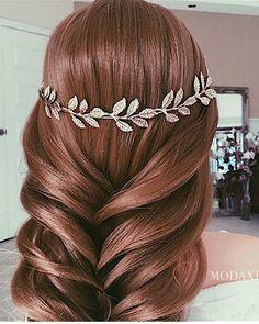 Ulyana Aster Romantic Long Bridal Wedding Hairstyles_17 ❤ See more…