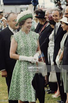 Queen Elizabeth II in Fiji during her royal tour, February 1977.