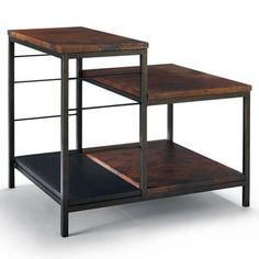 Sawyer Copper Tiered End Table