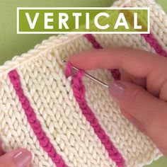 Easily Knit Vertical Stripes using a Crochet Chain with Video Tutorial by Studio Knit