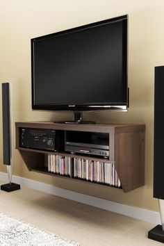 Wall Mounted AV Console // Good idea, could also DIY... #furniture_design @Alix Corbet Anderson make this for the living room!!!!!!