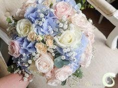 Summer pastel wedding bouquet