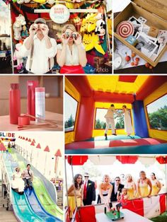 Carnival Theme wedding reception!