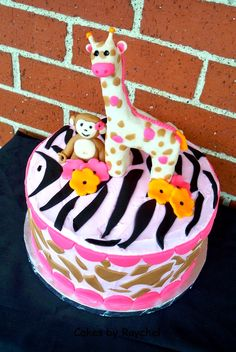This cake was made to match the Jungle Jill Baby Bedding from the baby stores. Description from my-creativeway.com. I searched for this on bing.com/images