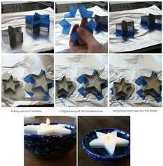 Make these cool floating star candles. | 47 Unexpected Things To Do With Cookie Cutters