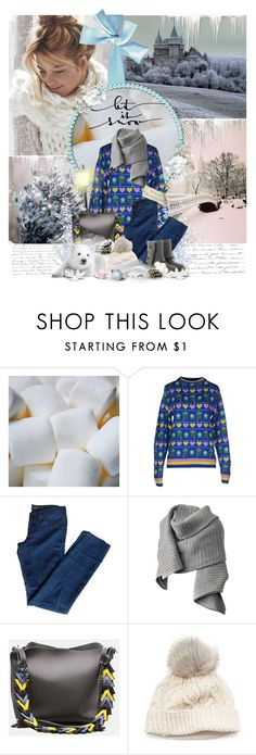 """""""Lei it Snow"""" by perplexidadesilencio ❤ liked on Polyvore featuring Jeremy Scott, J Brand, Acne Studios, SIJJL, UGG, Winter, contest, Sweater, snow and contestentry"""