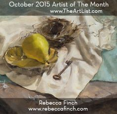 Congratulations to TheArtList's October Artist of the Month, Rebecca Finch! Read Rebecca's interview here: http://www.theartlist.com/aom_10_15.html