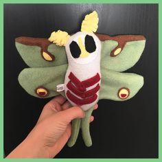Plush Luna moth spooky cute Instagram photo by @spookycutes