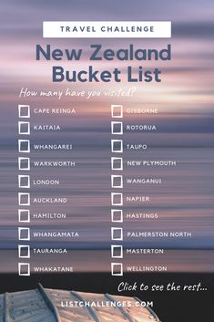future travel Which cities and/or towns have you visited in New Zealand from North Cape to Stewart Island? Travel Checklist, Travel List, Travel Goals, Travel Guides, Travel Bucket Lists, Travel Hacks, Travel 2017, Travel Gadgets, Cruise Travel