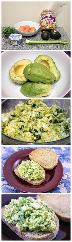Avocado Spinach Egg Salad http://sulia.com/my_thoughts/3578eeb4-478e-4278-932b-1da0cc710f55/?source=pin&action=share&ux=mono&btn=big&form_factor=desktop&sharer_id=0&is_sharer_author=false