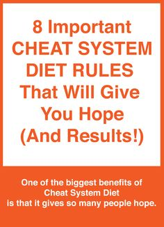 """""""If I had to sum up The Cheat System Diet in one word, it would be HOPE !!!"""" #CheatSystemDietADVANCED"""