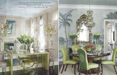 Ruthie Sommers - antique mirrored glass, old India wallpaper