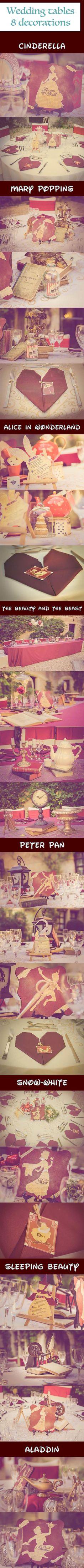 French Disney Wedding tables decorations - Chroniques Disney Facebook
