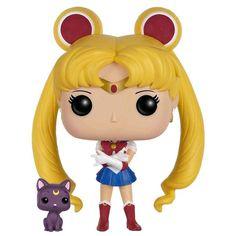 Statuetta decorativa Sailor Moon With Luna del brand Funko collezione Pop!.