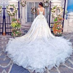 #glamorous #cinderella #runway #wedding