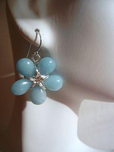 Jade Briolette Flower Petal Earrings. $27.00, via Etsy.