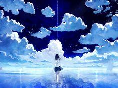 Sky Cloud Anime Wallpaper Wide Photos #99505 1600x1200 px 287.29 KB Anime Sky Cloud Anime