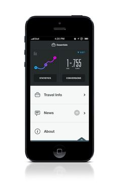 Essentials iPhone App UI screenGoogle+ Dribbble Behance Twitter http://ramotion.com