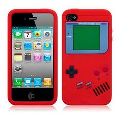 Retro Gameboy Funny Silicone Case for iPhone 4 / 4S - Red *Clearance